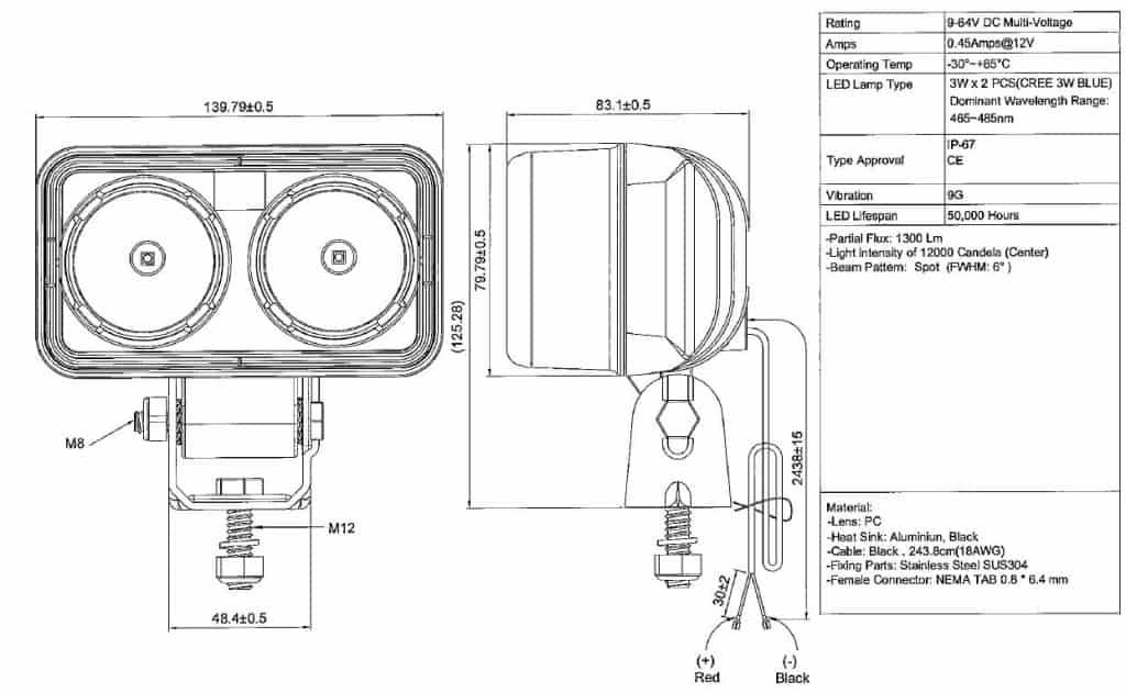 SAFE-LITE Forklift Blue Light