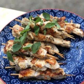 Garlic Chicken Skewers