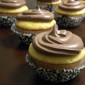 Fluffy Sprite Cupcakes with Nutella Cloud Frosting