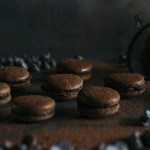 Chocolate Macarons + A Gingerbread Party