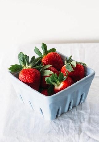 buttermilk strawberry ice cream fork to belly