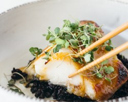 misoyaki butterfish fork to belly