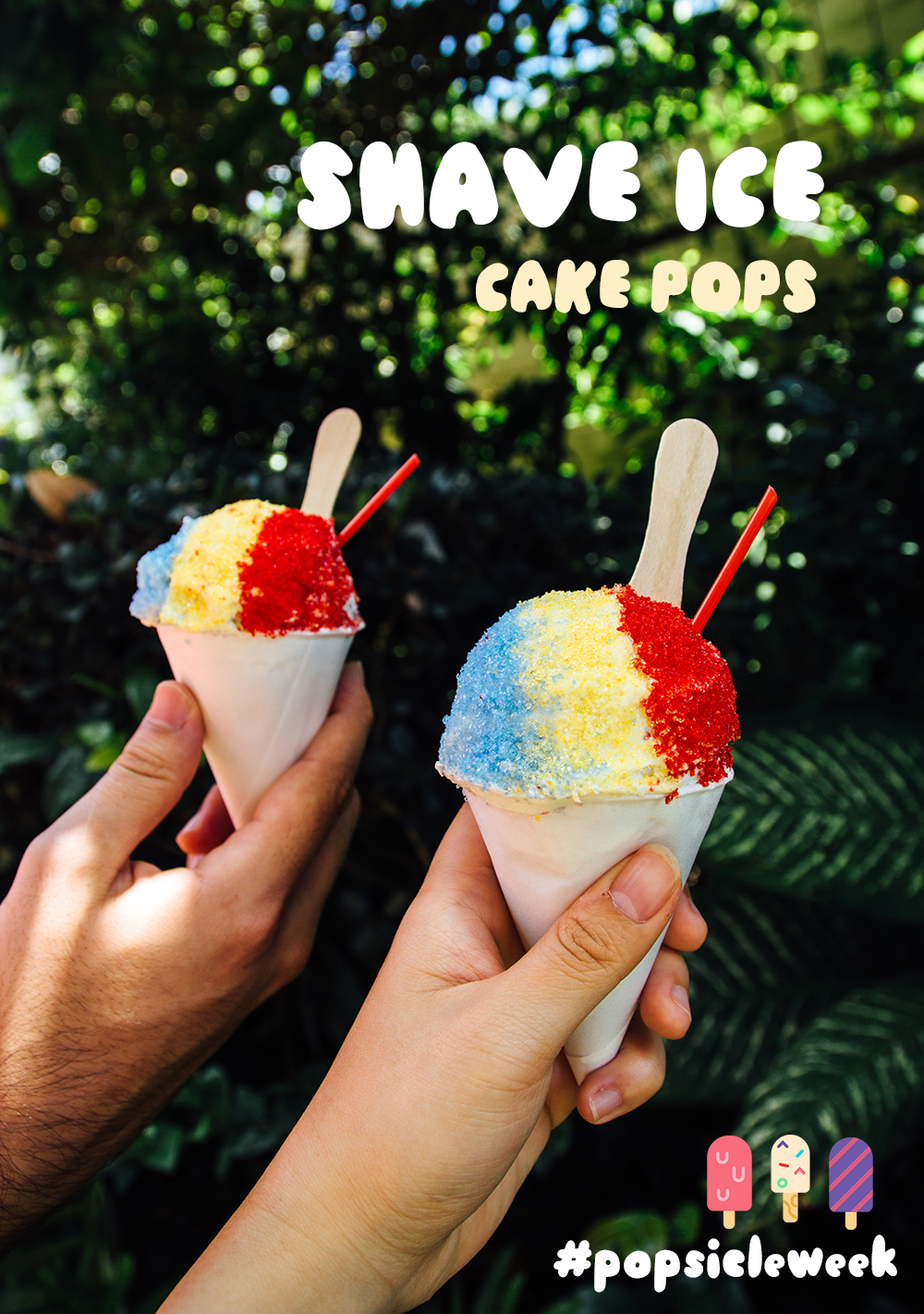 shave ice cake pops hawaii fork to belly