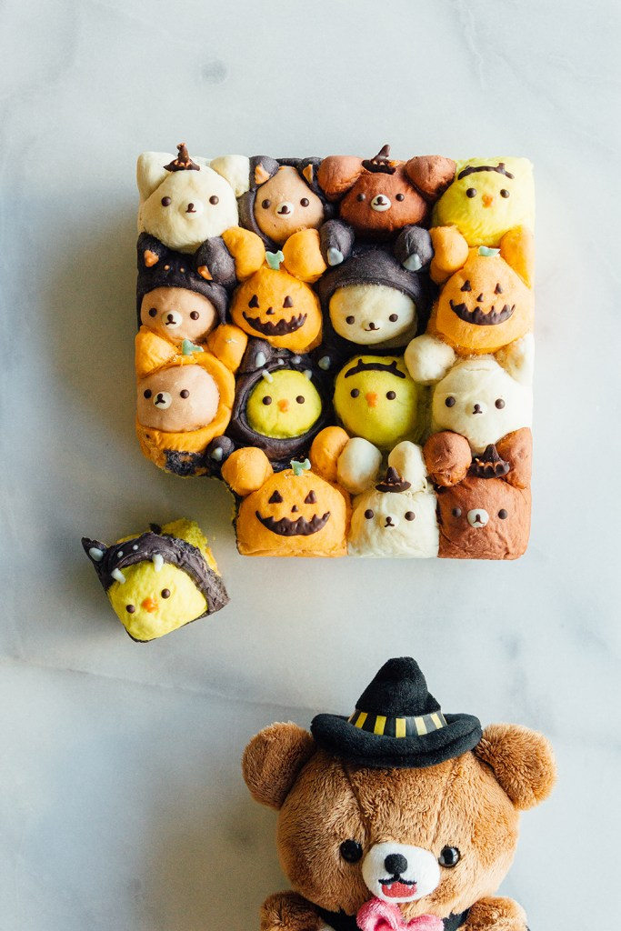 fork to belly rilakkuma halloween bread