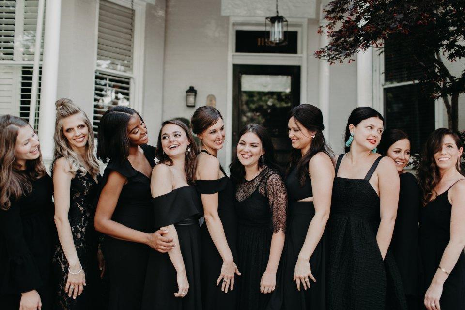 Modern Wedding Virginia Bridesmaids