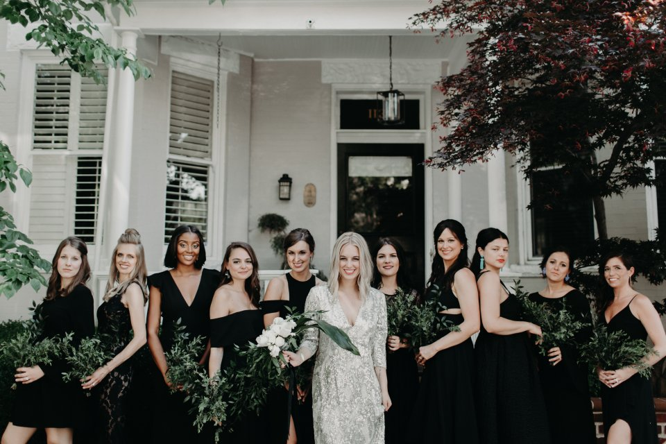 Modern Wedding Virginia Bridal Party