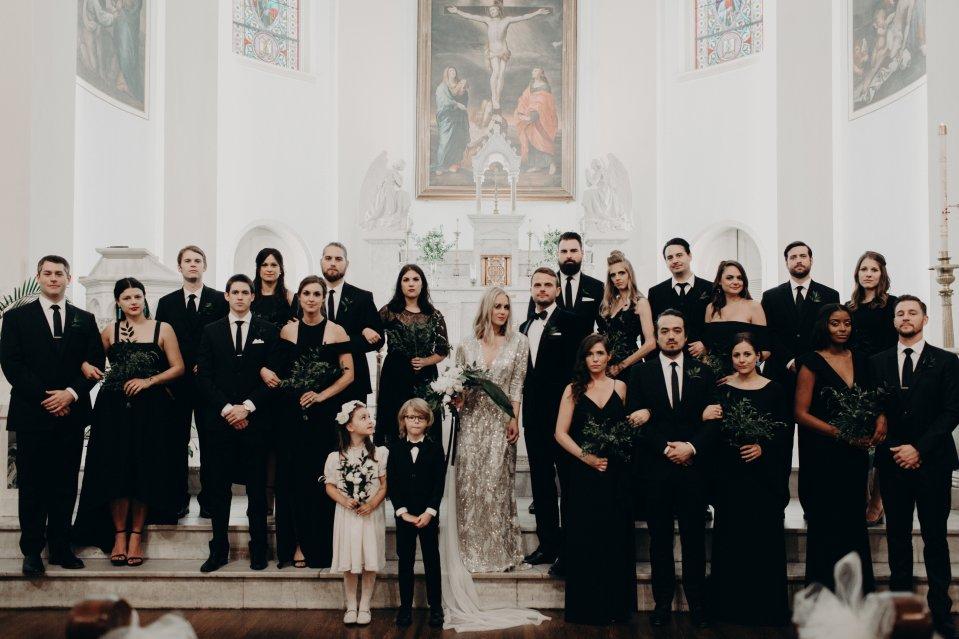 Modern Wedding Party Virginia