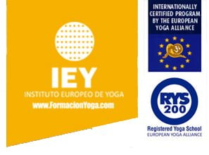 logo instituto europeo de yoga + yoga alliance + rys 200