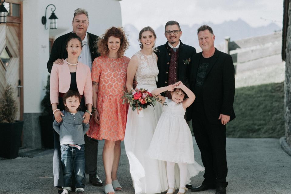 Familienfotos auf Hochzeiten