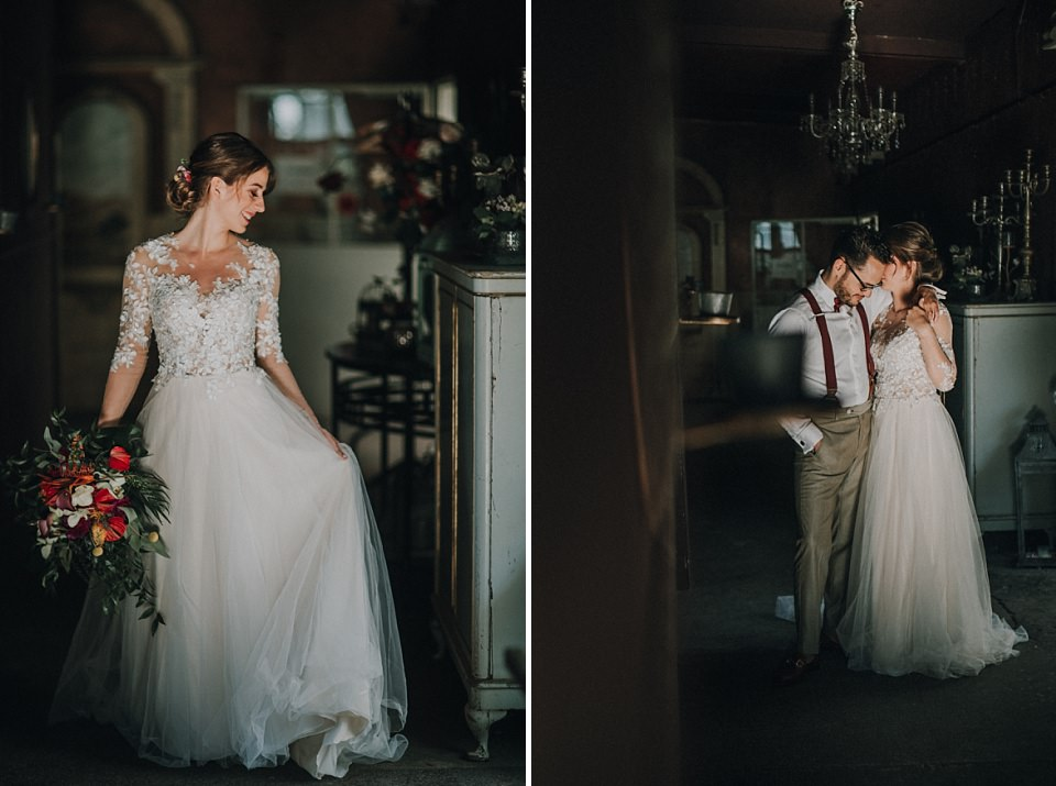 Die Alte Gärtnerei in Taufkirchen, München: Heiraten in einem Gewächshaus, Braut und Bräutigam