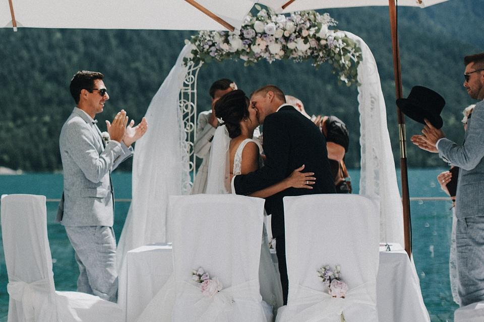Hochzeit am Achensee, Strandhotel Entners, Kuss