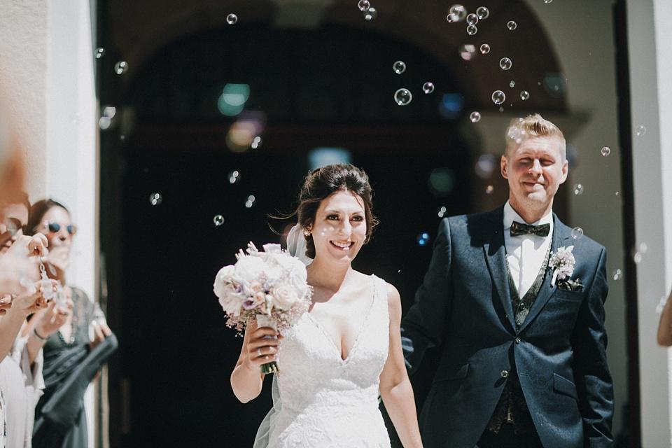 Hochzeit am Achensee, Kirche, Brautpaar