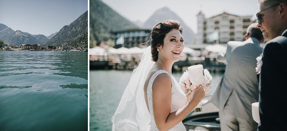 Hochzeit am Achensee, Strandhotel Entners Seeterrasse, Braut