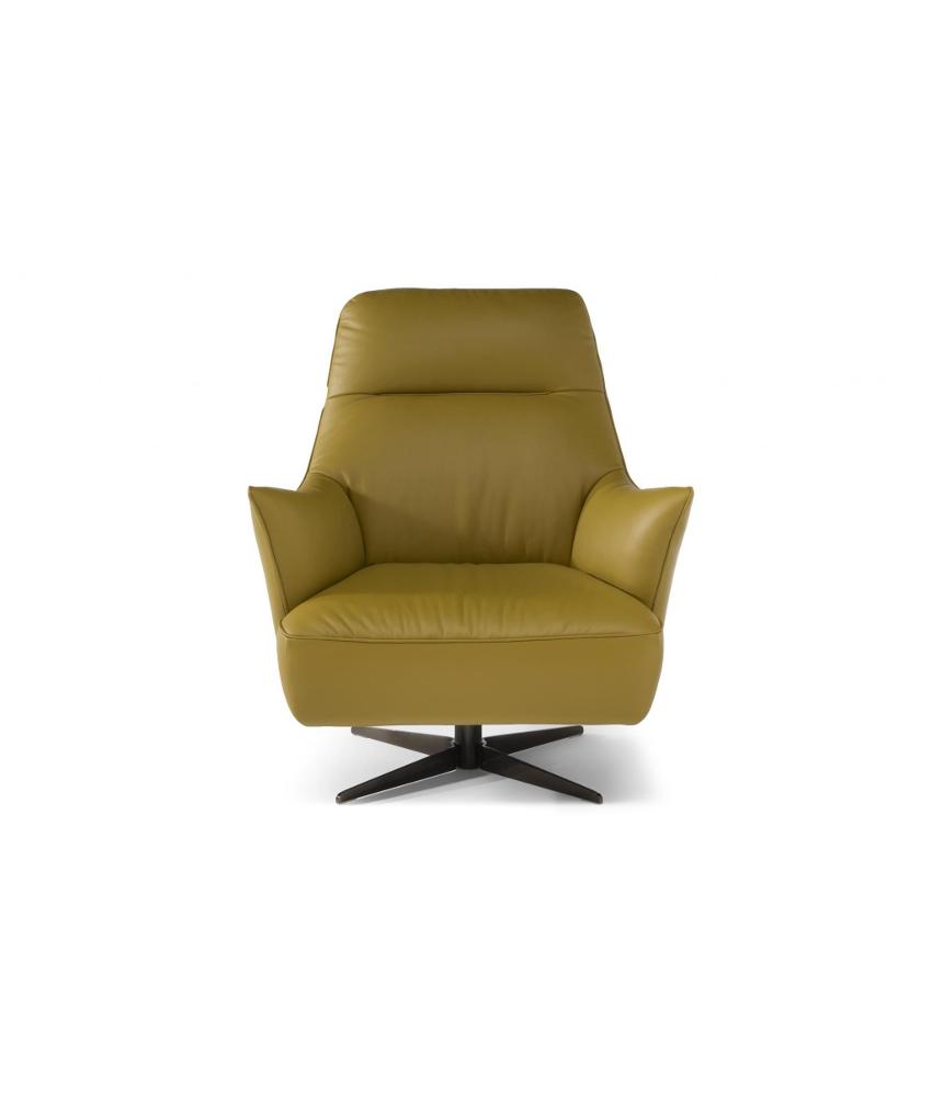 natuzzi swivel chair indoor swing chairs c056 calma forma furniture