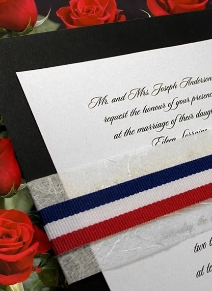 Red, White and Blue Wedding Invitations