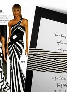 Black Wedding Invitations with Zebra Wrap