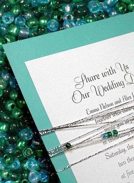 DIY Wedding Invitation with Glass Beads