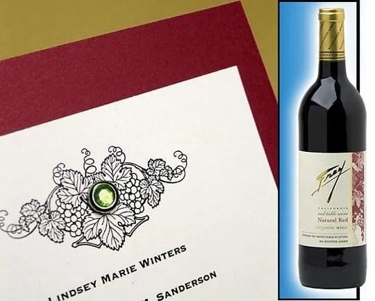 DIY Winery Themed Wedding Invitations