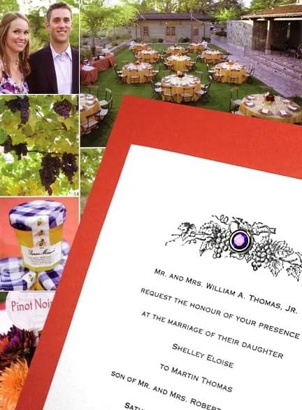 DIY Papaya Orange and Purple Wedding Invitations