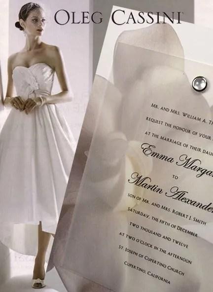 DIY Gardenia Wedding Invitations with Pearl Brad