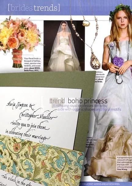 Olive Green Wedding Invitations with Italian Wrap