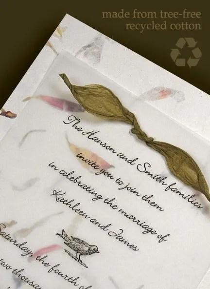 Handmade Wedding Invitations with Lokta