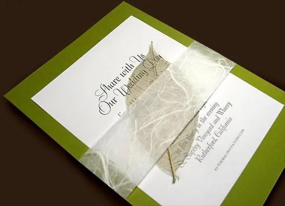 Fall Wedding Invitation with Skelton Leaf