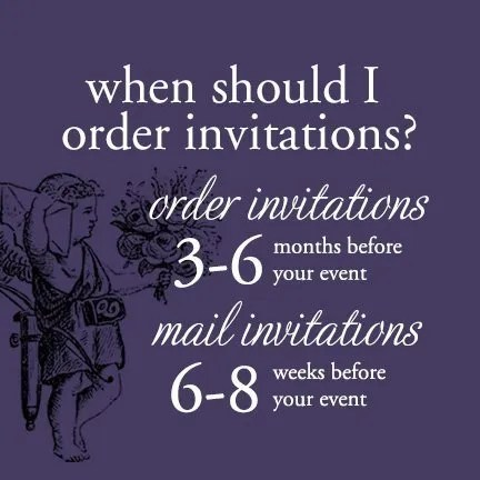 When to Order and Mail Wedding Invitations