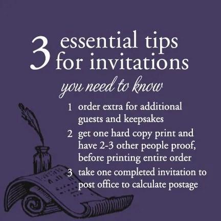 3 Wedding Invitation Essential Tips