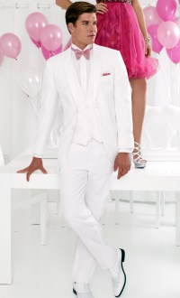 All White Prom Suits