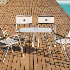 Boat Chairs Folding Deck Chair Design Blog Aluminum M100w Forma Marine With Teak Or Iroko Armrests Off White