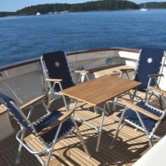 Marine Deck Chairs Folding Wood Chair Aluminum Boat M150bl Forma High Back With Teak Or Iroko Armrests Black