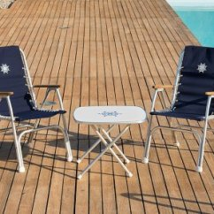 Folding Chairs For Boats Van Der Rohe Chair Aluminum Boat M150g Forma Marine High Back With Teak Or Iroko Armrests Grey