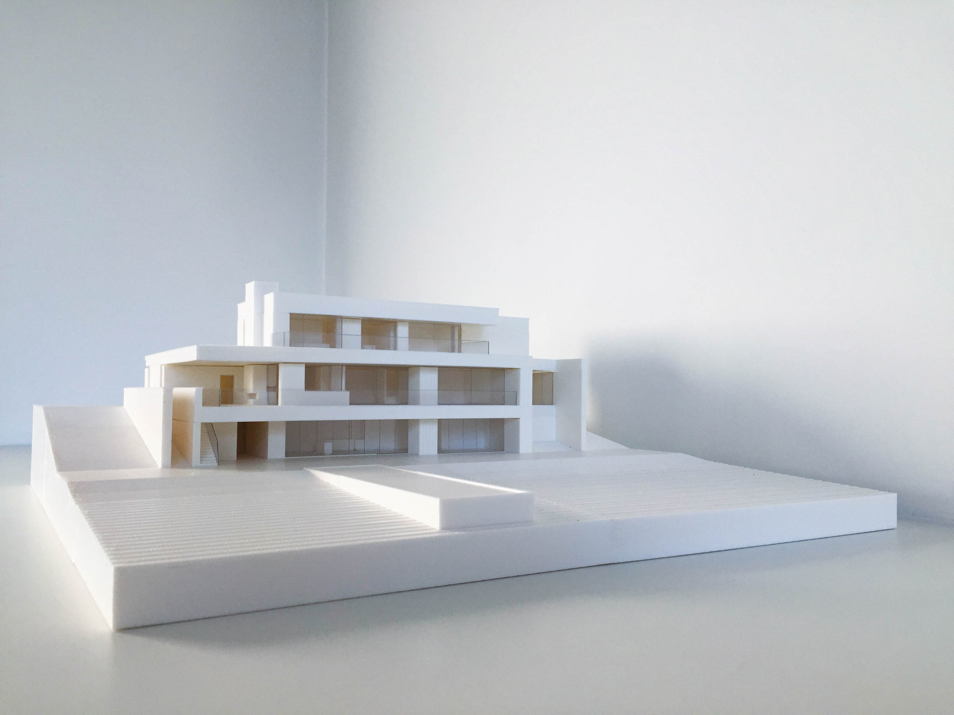 3D print scale model villa, removable per floor