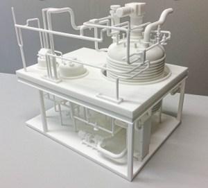 Schaalmodel 3D energiecentrale reactor