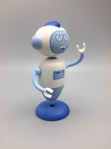Multicolor 3D print mascotte robot