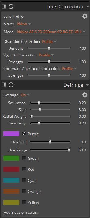 Correzione delle lenti e delle aberrazioni cromatiche
