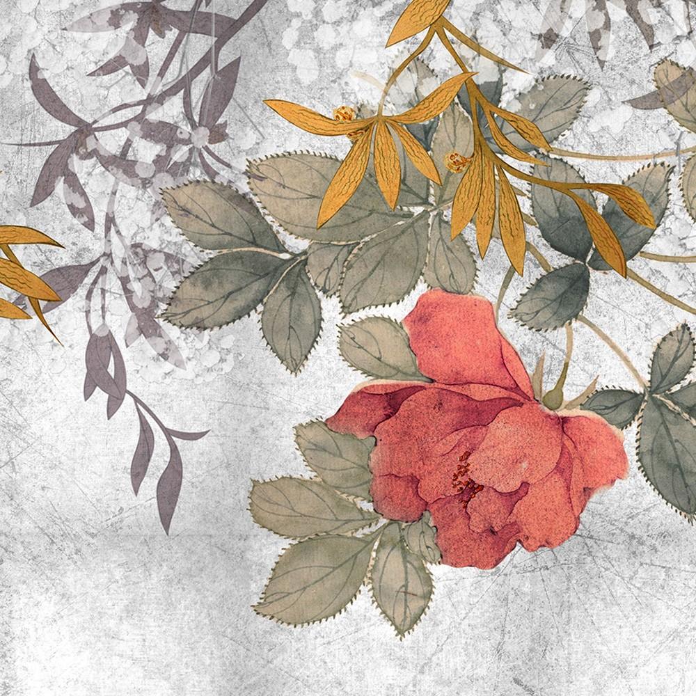È inkiostro bianco, azienda di sassuolo specializzata in carte da. Inkiostro Bianco Carta Da Parati Grand Bouquet Eq Dekor Fibra Di Vetro
