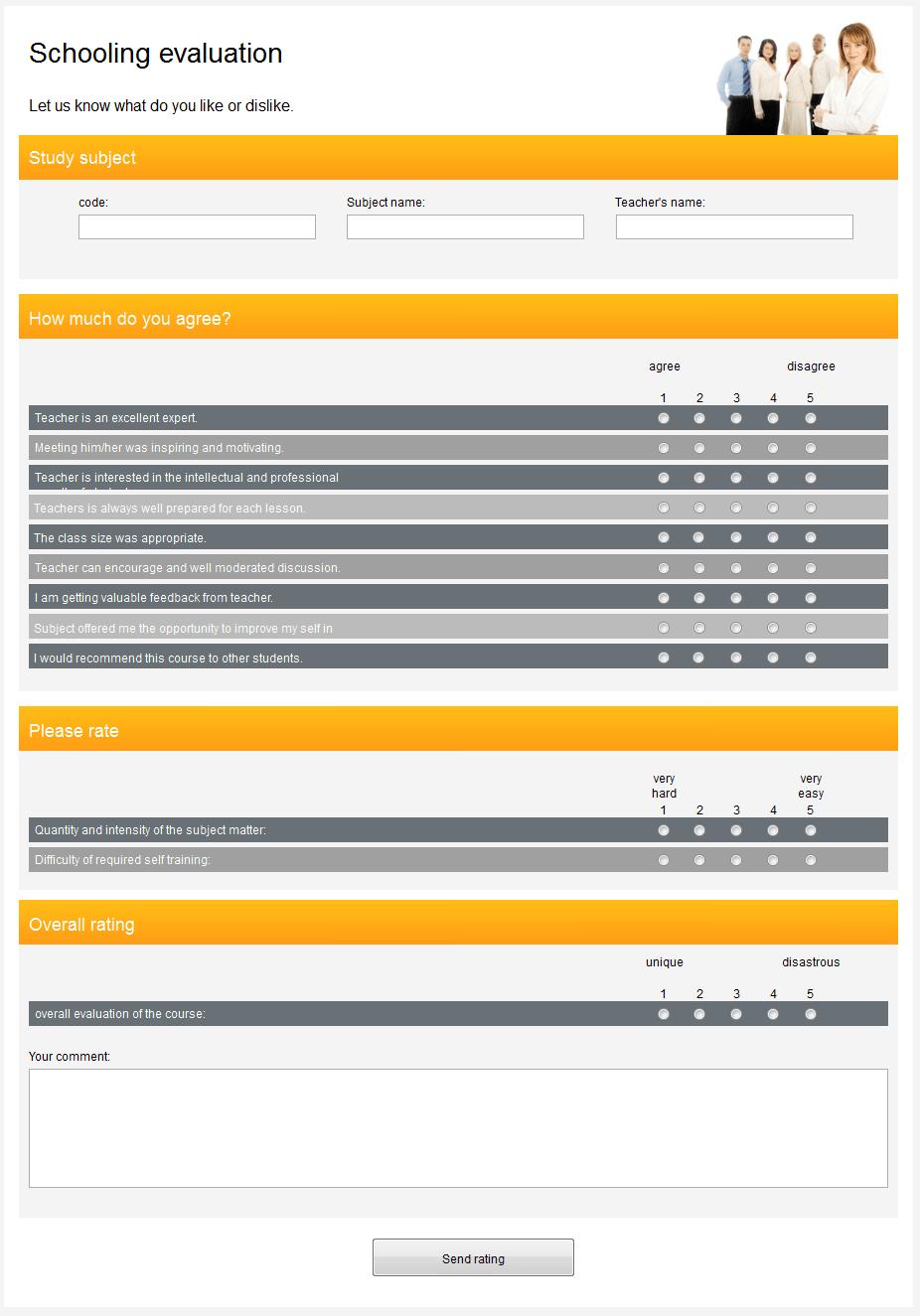 Online Survey Template