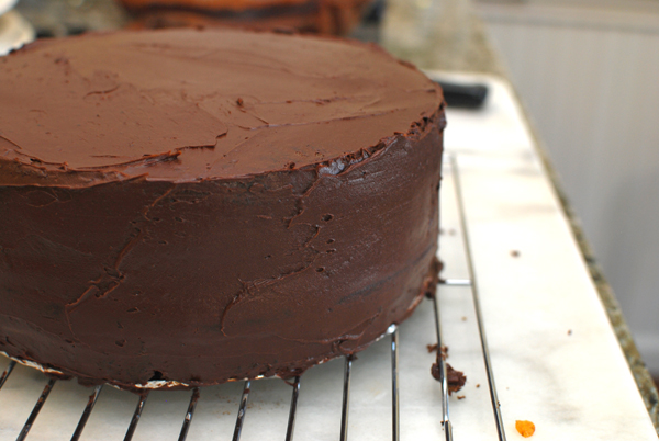 Chocolate Cake, Frosted