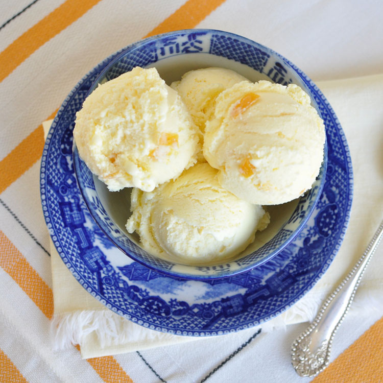 Meyer lemon ice cream.