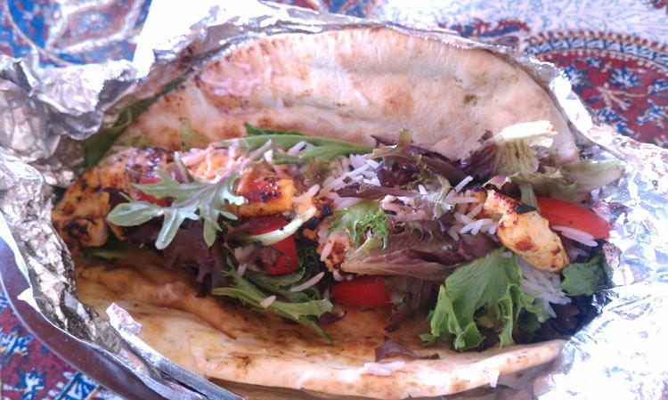 Chicken Shish Kabob Sandwich