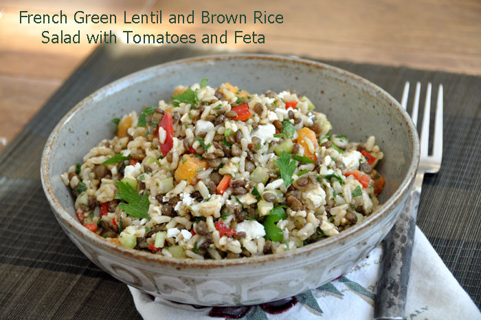 French Green Lentil Salad with Feta