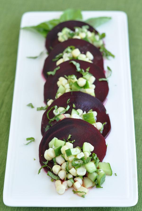 Beet Corn Cucumber Salad