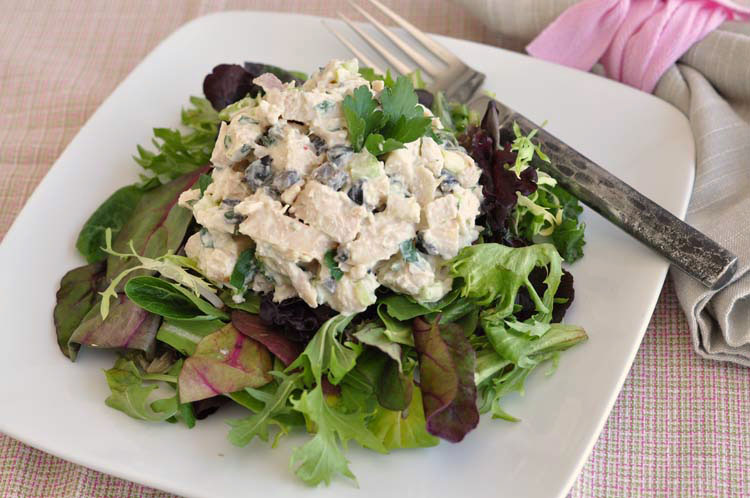 Chicken Salad with Olives and Dijon Yogurt Dressing