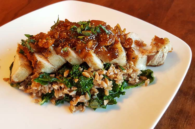 Blue Apron Pork Chops and Fig Compote