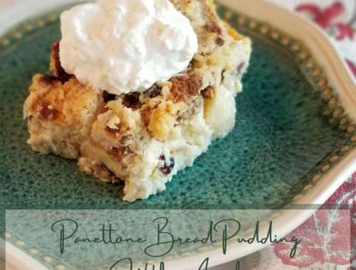 Panettone Bread Pudding With Apples