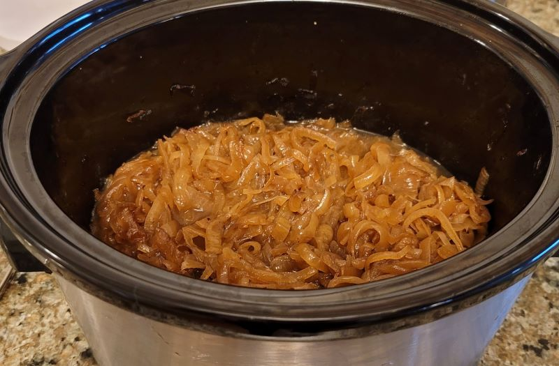 Caramelized Onions in the Slow Cooker When Done