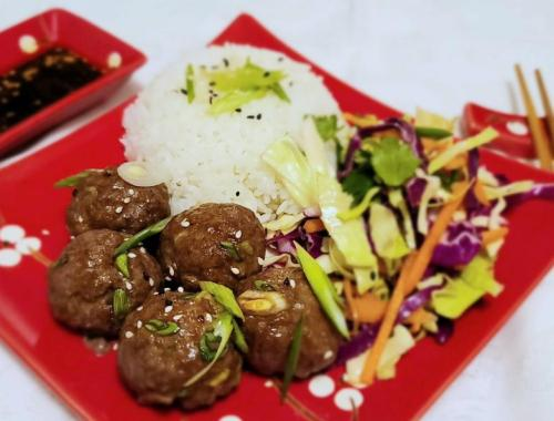 Korean Barbecue Style Meatballs