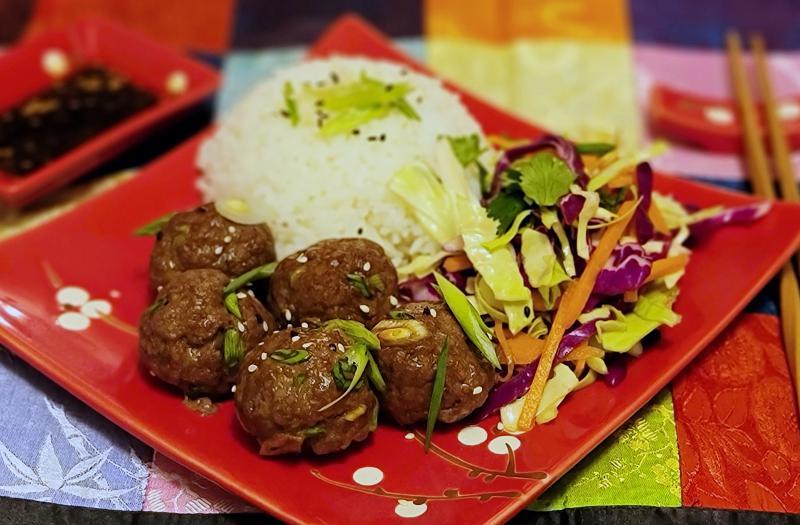 Korean barbecue style meatballs.